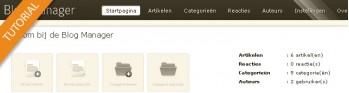 Blog configuratie